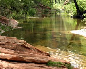 west fork oak creek arizona water rocks